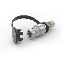 WEH® Receptacle TN1 H₂ for refuelling of cars (EC79), with tube Ø 10, filter 50 micron, 350 bar