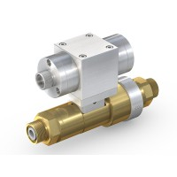WEH® High Pressure Valve TV17GER for inert gases, pneumatical actuation, Block & Bleed, DN12, NC, 420 bar