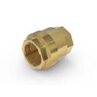 """Check Valve TVR61 with internal thread G2"""" on both sides, DN 50 mm, brass"""